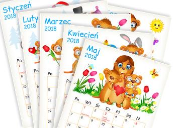 Kalendarz. Darmowe materiały edukacyjne dla dzieci.
